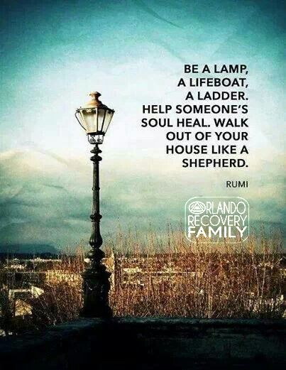 be a lamp.rumi